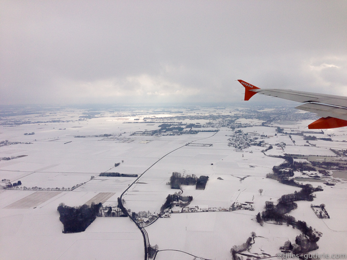 Snow over Germany