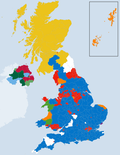 Map of 2015 Election Results